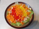 Zesty Chopped Salad with Tuna
