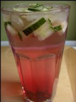 Cranberry Lemonade with Cucumber