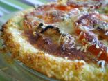 	Onion and Wild Garlic Quiche with Parmesan in a Couscous Crust
