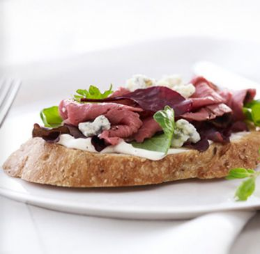 Open Face Roast Beef Sandwich Recipe | SparkRecipes