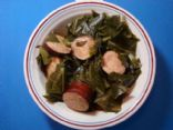 Turkey Sausage & Collards dinner