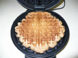 Whole Wheat Banana Waffles with Flax Meal