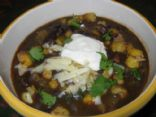 black bean and hominy soup