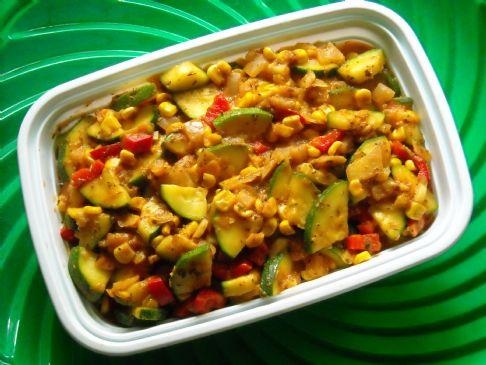 Sharon's Zucchini Corn Sauté
