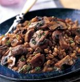 Barley Pilaf With Sauteed Mushrooms