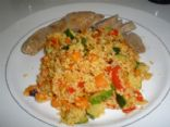 Couscous with spiced Zucchini, Carrot and Bell Pepper