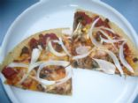 Amy O's Veggie Sausage-Onion Pizza