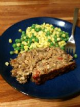 Vegan Lentil, Rice and Tofu Loaf (1950s Meatl Loaf brought to 2010s)