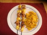 Pineapple and Tuna Skewers