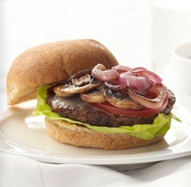 Veggie Burger with Gruyere and Mushrooms