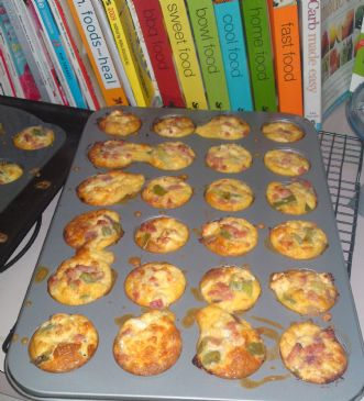 Ham, Fetta & Capsicum Frittatas