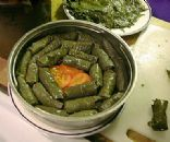 Egyptian Style Stuffed Grape Leaves (Mahshi)