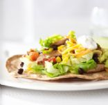 Roasted Corn and Chicken Tostada