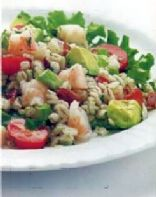 Bacony Barley Salad With Shrimp And Avocado