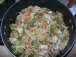 Tasty Sesame Chicken Stir Fry w/ Brown Rice