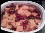 Roasted Butternut Squash with Cranberries