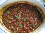 Bison & Chorizo Chili with Garbanzos