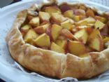 Rustic Peach Tart