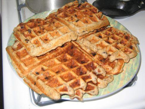 Blueberry Poppy Seed Belgian Waffles
