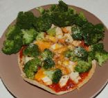 Chicken & Broccoli Fit-zza (Pizza)