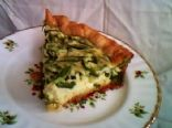 Easy Asparagus and Gruyere Quiche