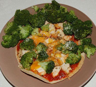 Chicken & Broccoli Fit-zza (Pizza)