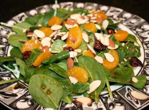 Image of Andi's Vegetarian Jamaican Jerk Spicy Salad With Cranberries, Almonds, And Mandarin Oranges, Spark Recipes