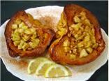 Apple filled squash