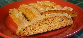 Image of Apple Pie Biscotti W. White Choc. Ginger Glaze, Spark Recipes