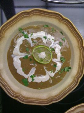 Black Bean Soup with Lime and Cumin