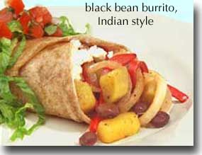 Indian Style Black Bean Burrito