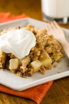Apple-Oatmeal Crisp with Irish Whiskey Cream