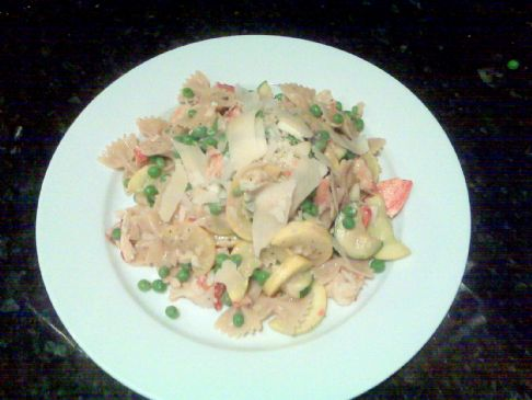 Seafood Pasta with Sherry Tomato Cream Sauce Recipe : Rachael Ray