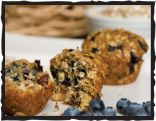 Blueberry-Cranberry Agave Granola Bar Muffins