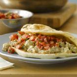 Turkey Curry on Flatbread
