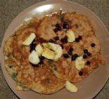 Protein Oatmeal Pancakes w/ Blueberries
