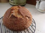 Homemade, no-knead 7-grain bread