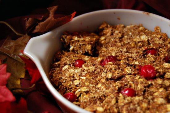 Cranberry-Orange Pumpkin Granola Cookie Bars Recipe | SparkRecipes