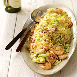 Leeky Linguini With Shrimp
