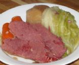 Pressure Cooker Corned Beef with Cabbage and Carrots 