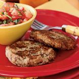 Black-Eyed-Pea Patties with Garlic Pepper Salsa