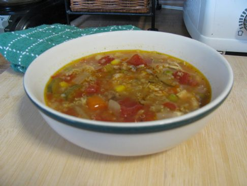 Vegetable Chicken Quinoa Soup