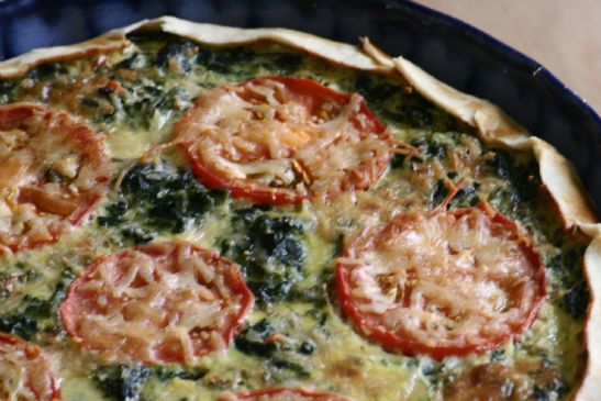 Easy Spinach Feta Quiche