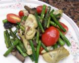 Asparagus, Artichoke and Mushroom Saute