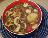 Barley Lentil Mushroom Soup