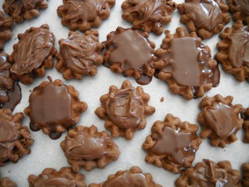 Chocolate Waffle Cookies Recipe | SparkRecipes