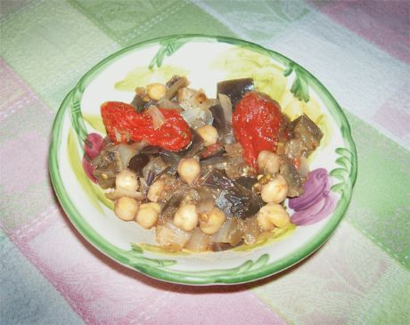 Casserole of Chickpeas, Eggplant, and Tomatoes