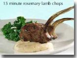 15 Minute Rosemary Lamb Chops