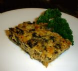 Cottage Cheese  Crustless Quiche with Spinach & Turkey Sausage