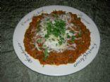 Spaghetti Squash & Meat Sauce